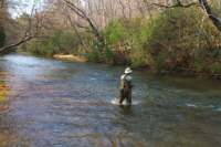 Fishing in the Cartecay River